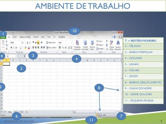 Introdução ao Excel 2010 Slide 3