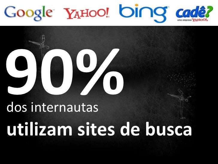 utilizam sites de busca 90% dos internautas