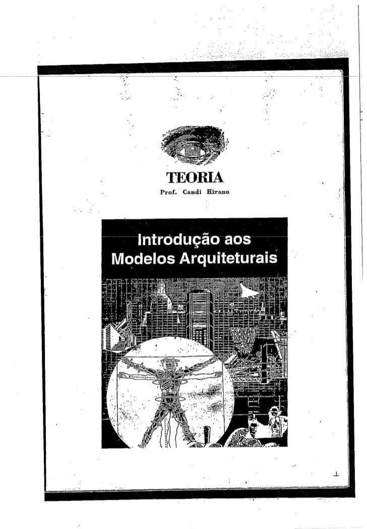 T. A. Introdução  aos modelos  arquiteturais