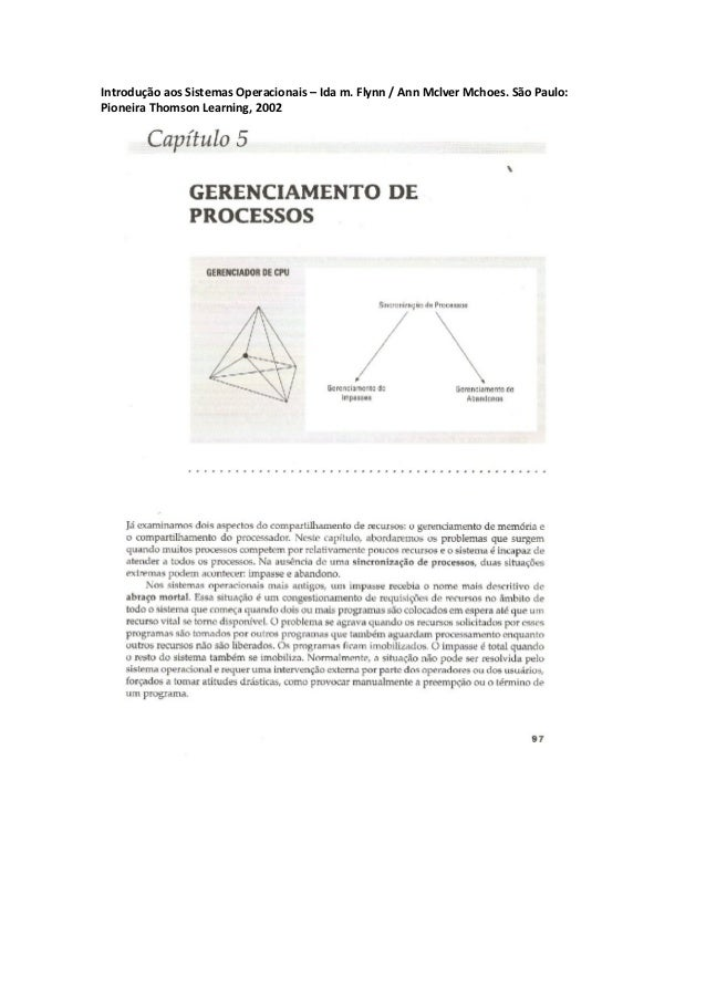 Introdução aos Sistemas Operacionais – Ida m. Flynn / Ann Mclver Mchoes. São Paulo:Pioneira Thomson Learning, 2002