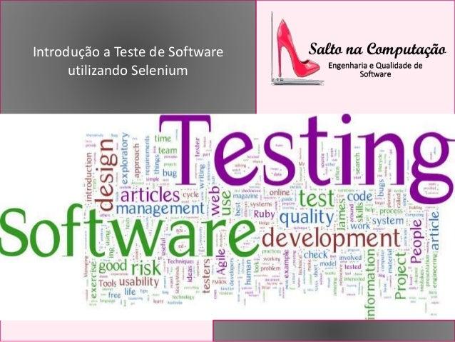 Introdução a Teste de Software utilizando Selenium