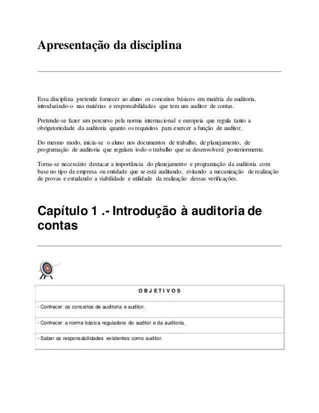 Introdução à Auditoria De Contas