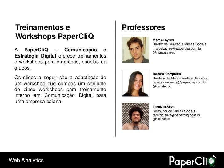 Treinamentos e                            Professores   Workshops PaperCliQ                              Marcel Ayres     ...