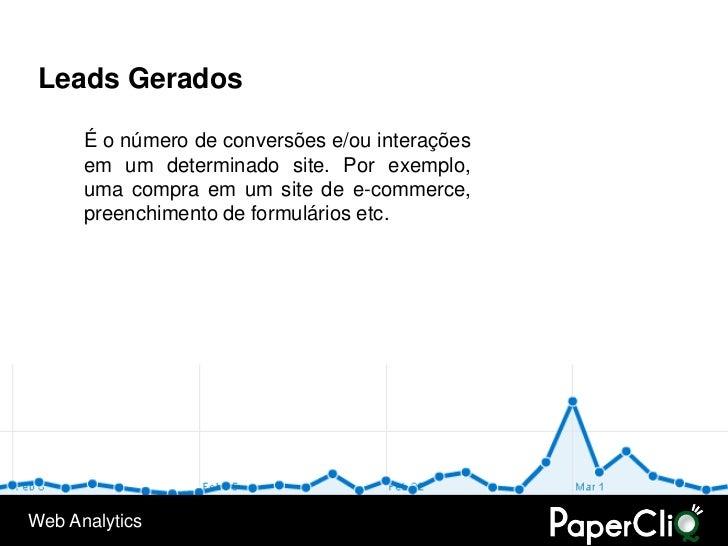 Leads Gerados        É o número de conversões e/ou interações       em um determinado site. Por exemplo,       uma compra ...