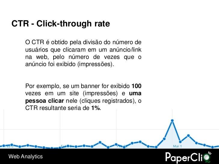 CTR - Click-through rate        O CTR é obtido pela divisão do número de       usuários que clicaram em um anúncio/link   ...