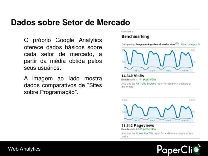 Dados sobre Setor de Mercado        O próprio Google Analytics       oferece dados básicos sobre       cada setor de merca...