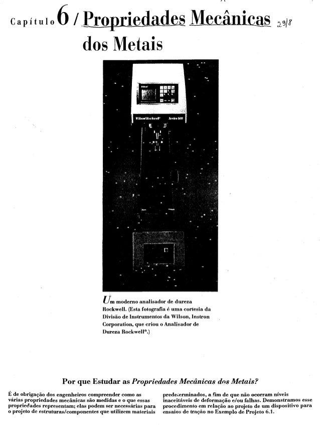 Introdução à ciência dos materiais   callister - capítulo 06 - propriedades mecânicas do metais
