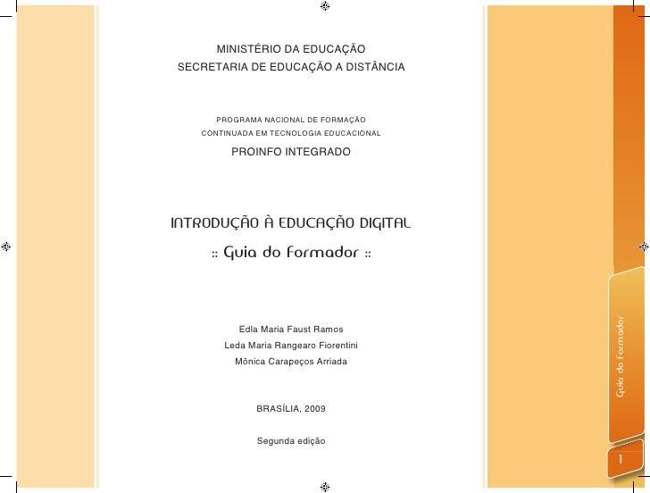 MINISTÉRIO DA EDUCAÇÃOSECRETARIA DE EDUCAÇÃO A DISTÂNCIA     PROGRAMA NACIONAL DE FORMAÇÃO   CONTINUADA EM TECNOLOGIA EDUC...