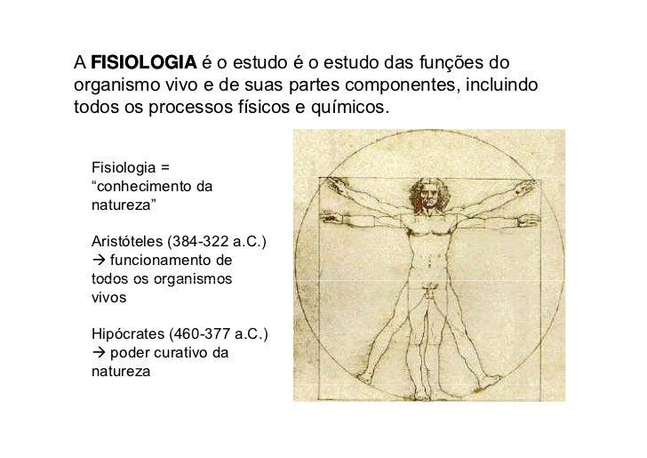 Introdução à Fisiologia - Fisiologia Slide 2