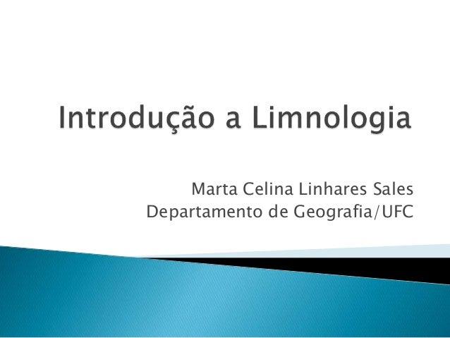 Marta Celina Linhares Sales Departamento de Geografia/UFC