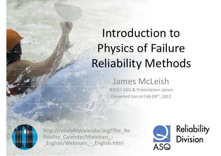 Introductionto                      Introduction to                     PhysicsofFailure                     Physics ...