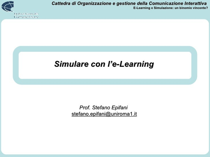 Simulare con l'e-Learning