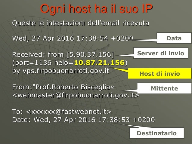 Ogni host ha il suo IP Wed, 27 Apr 2016 17:38:54 +0200 Received: from [5.90.37.156] (port=1136 helo=10.87.21.156) by vps.f...