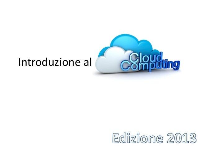 Introduzione al Cloud Computing