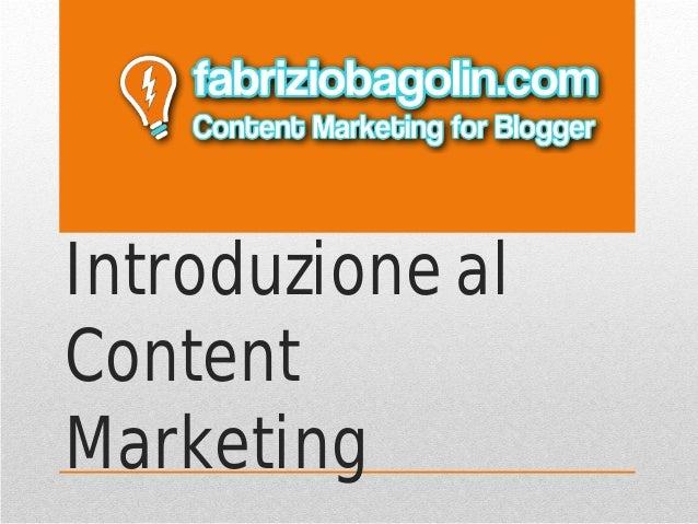 Introduzione al Content Marketing