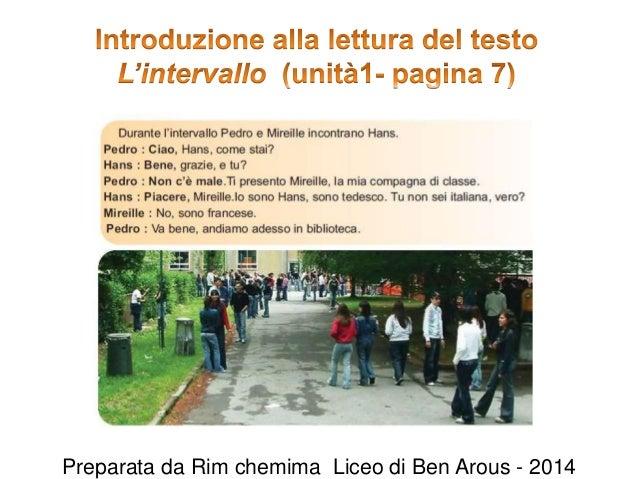 Preparata da Rim chemima Liceo di Ben Arous - 2014