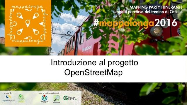 Introduzione al progetto OpenStreetMap