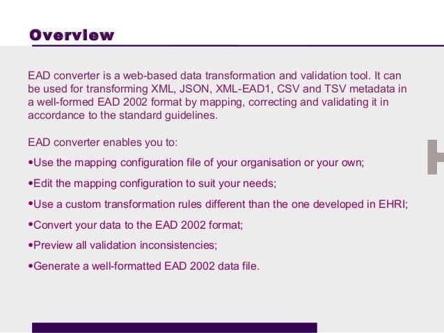 EHRI Conversion Tool Slide 3