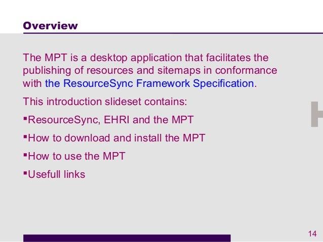 Intro EHRI Metadata Publishing Tool Slide 2