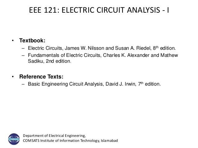 Electric Circuit - Introduction + Lecture#1 Slide 3