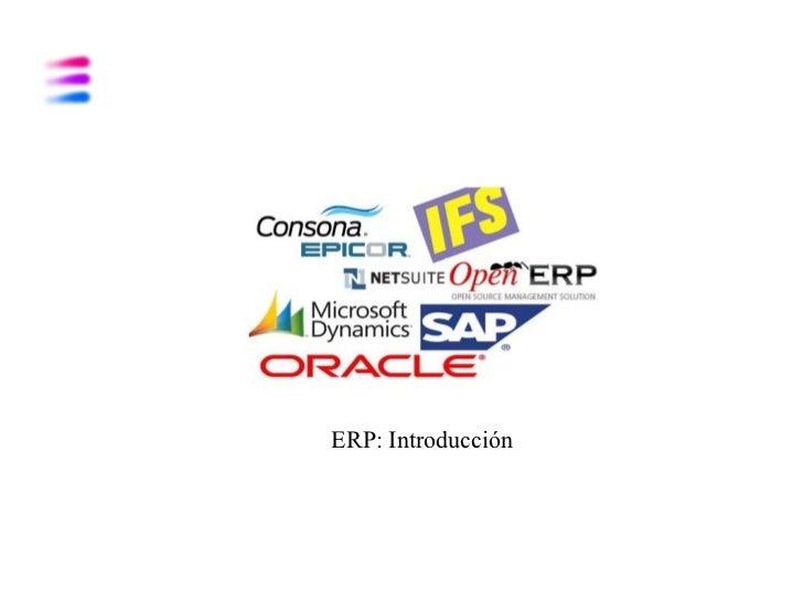 ERP: Introducción