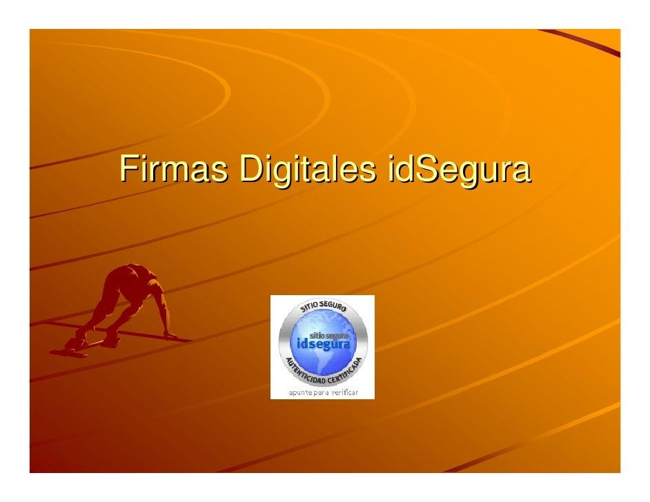 Firmas Digitales idSegura