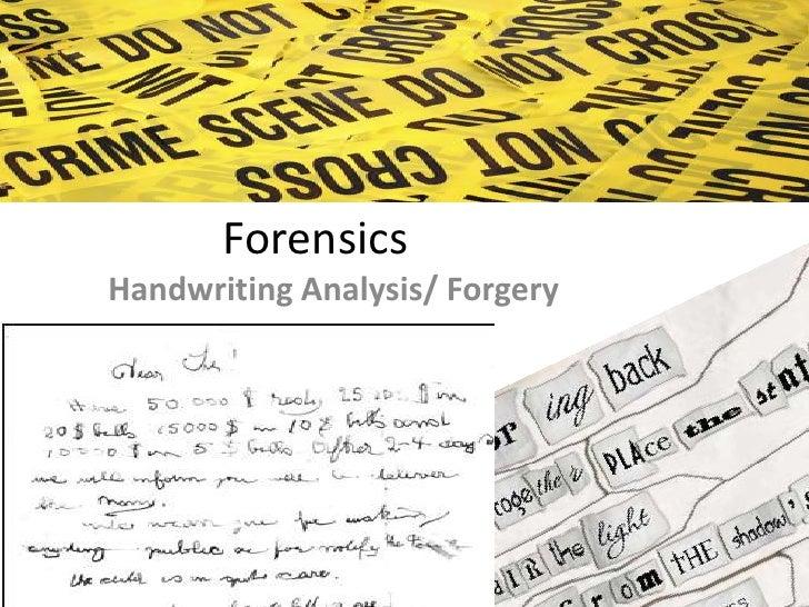 summarize the three basic steps in handwriting analysis