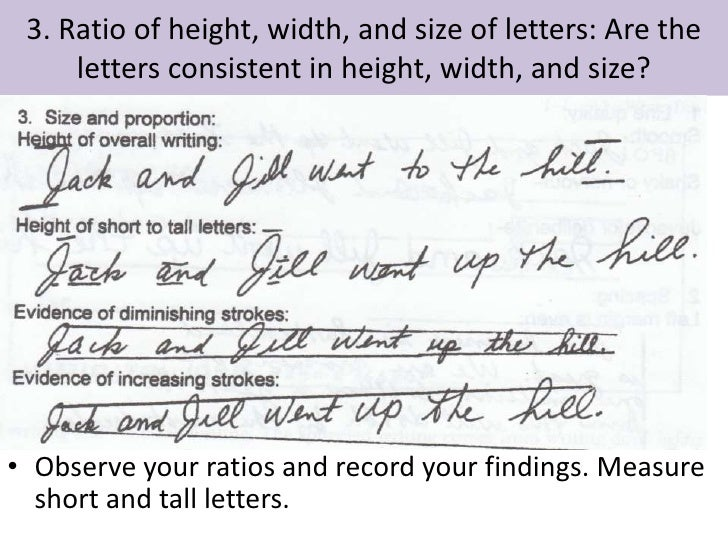 handwriting analysis tall letters and letters