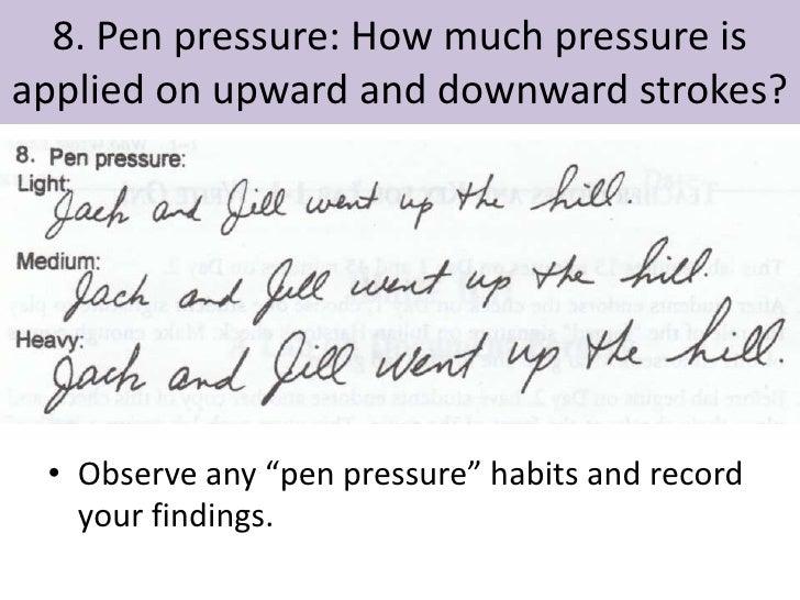 handwriting analysis slant upward