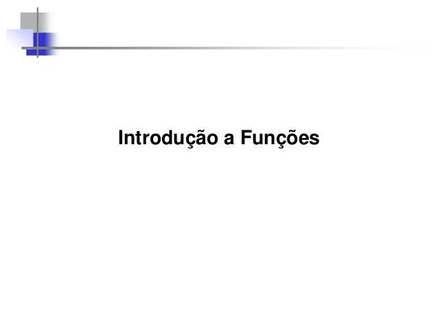 Introdução a Funções