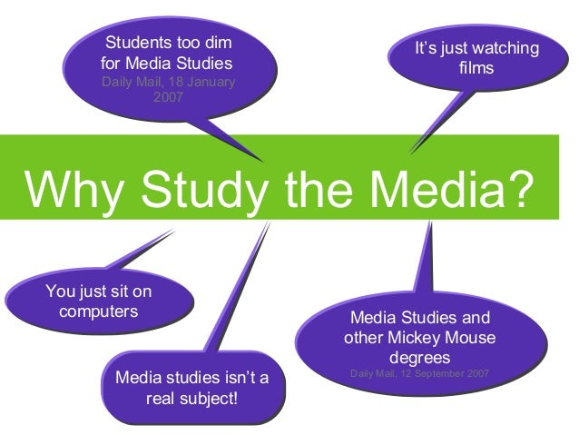 why study media A university degree in media studies isn't a waste of time, writes a student blogger who is used to the bad reputation.