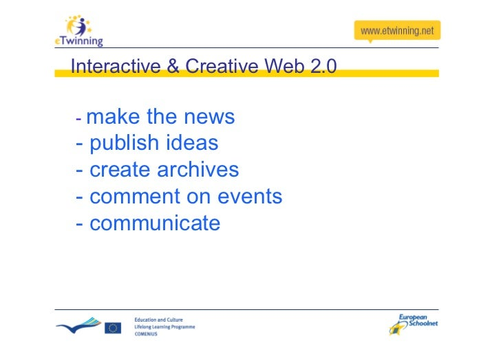 eTwinning                             Projects Many things Above... and were happening below In eTwinning... the surface  ...