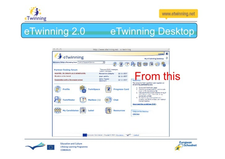 eTwinning 2.0 To this