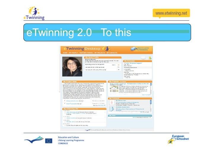 The evolution of eTwinning 2.0 (2010)