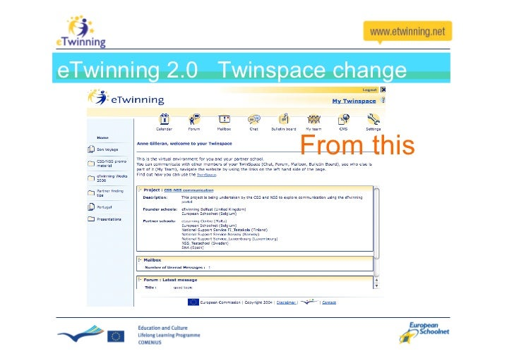 eTwinning has become a social network                     Find each other                     and get in touch  The commun...