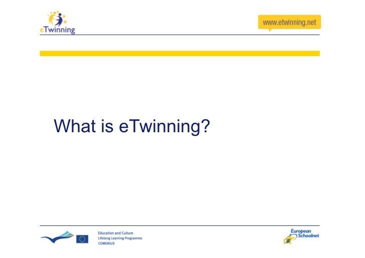 What is eTwinning?