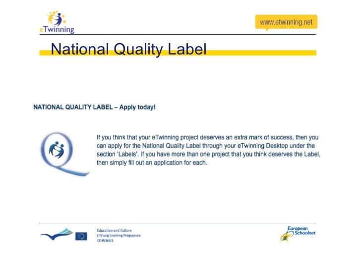 eTwinning Prizes   National Level  European Level