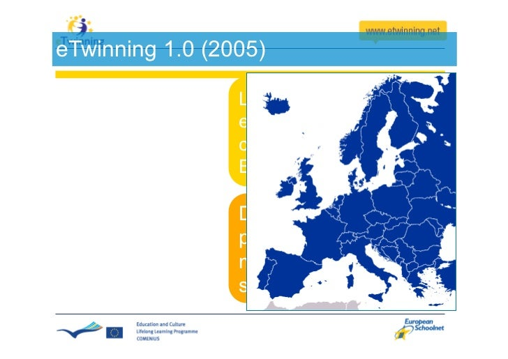 What happened in 2005?    eTwinning was launched               +    The Internet phenomenon
