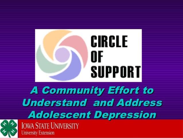 A Community Effort toA Community Effort toUnderstand and AddressUnderstand and AddressAdolescent DepressionAdolescent Depr...
