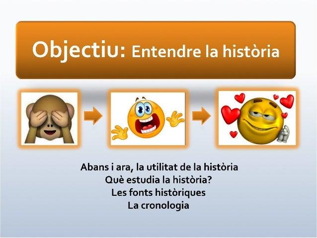 Objectiu: Història