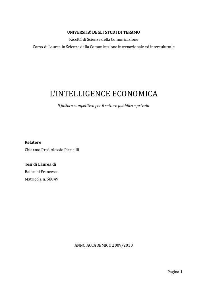 UNIVERSITA DEGLI STUDI DI TERAMO                          Facoltà di Scienze della Comunicazione    Corso di Laurea in Sci...