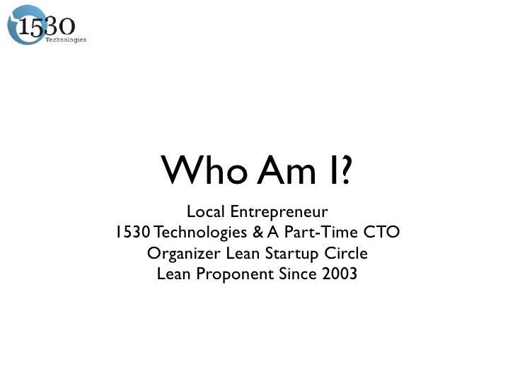 Who Am I? Local Entrepreneur1530
