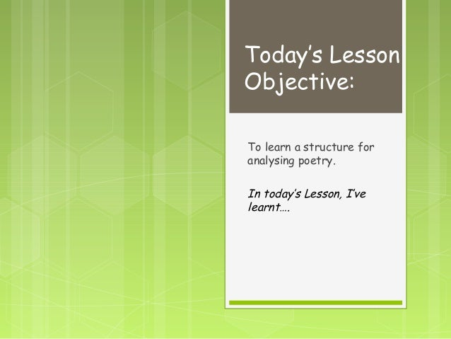 how to teach intro to poetry
