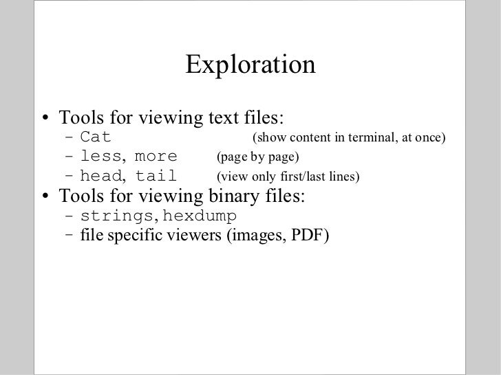 BITS: Introduction to Linux - Text manipulation tools for