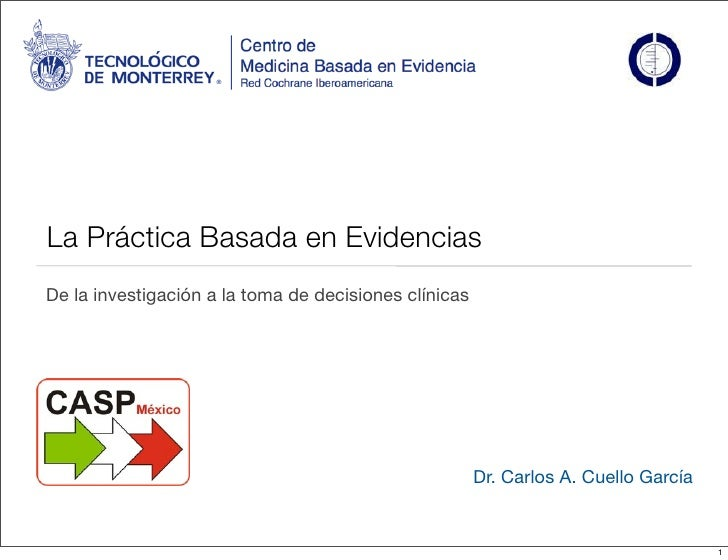 Introducción a la práctica basada en evidencia