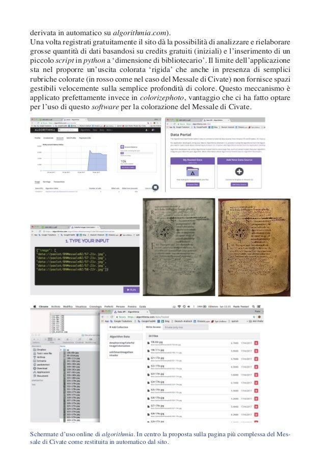 derivata in automatico su algorithmia.com). Una volta registrati gratuitamente il sito dà la possibilità di analizzare e r...