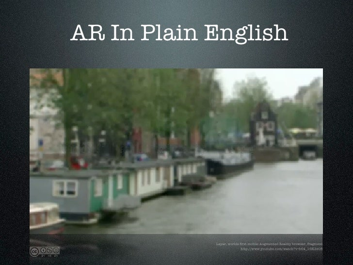 AR In Plain English                 Layar, worlds first mobile Augmented Reality browser, fragment                         ...