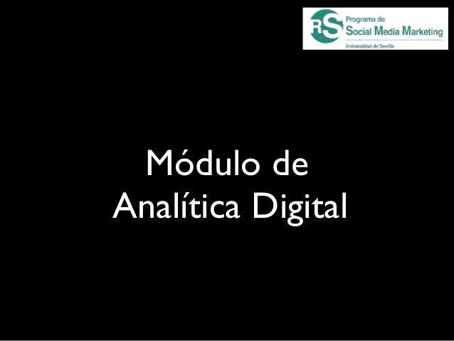 Módulo deAnalítica Digital