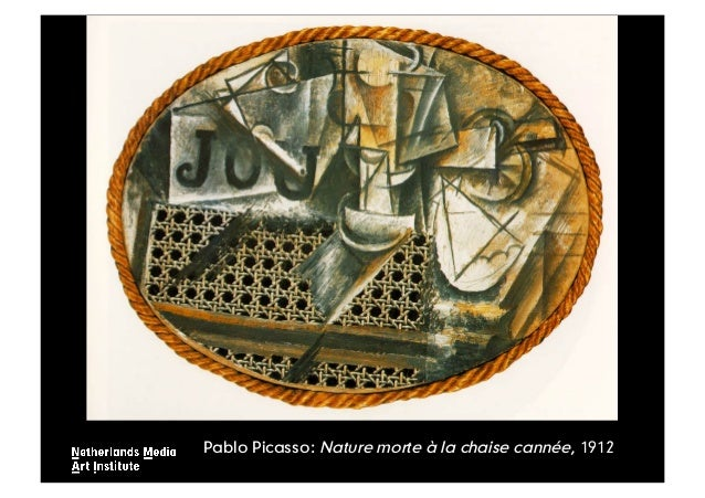 Mediakunst een inleiding - Picasso nature morte a la chaise cannee ...