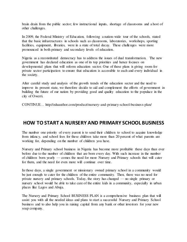 preschool business plan template pdf